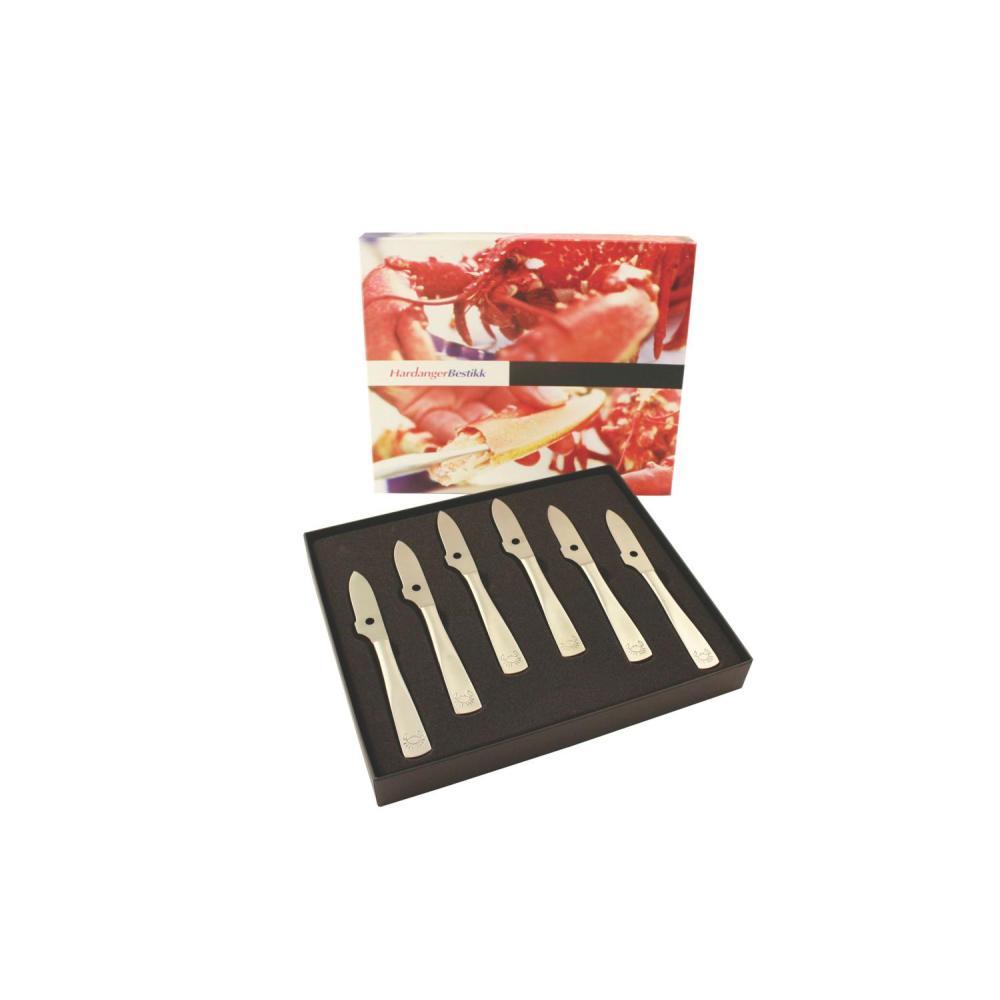 Hardange skaldjurkniv6 delar