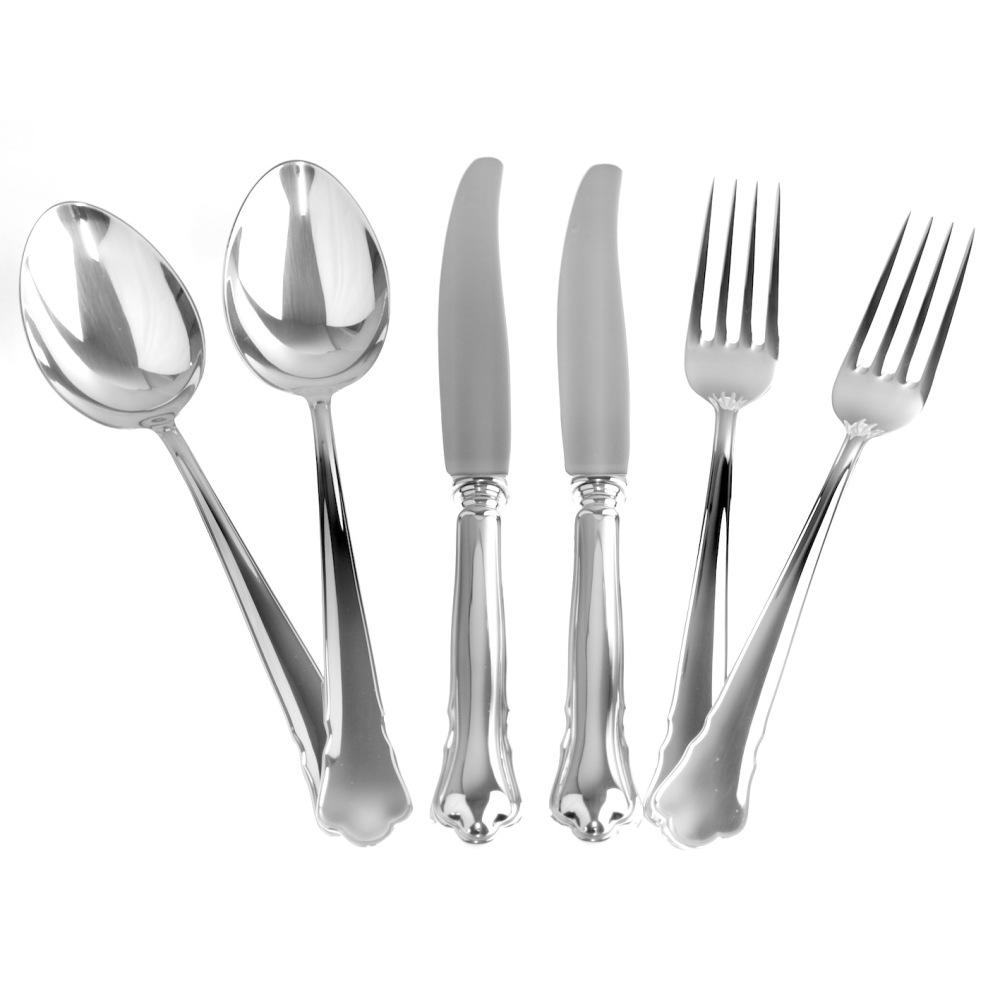 Chippendale äkta silver